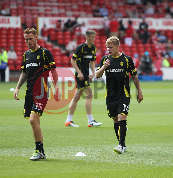 Damien McCrory of Burton Albion (R) during the warm up - Mandatory by-line: Jack Phillips/JMP - 06/08/2016 - FOOTBALL - The City Ground - Nottingham, England - Nottingham Forest v Burton Albion - EFL Sky Bet Championship
