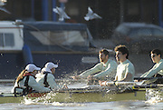 "Putney, Great Britain, during the 2007 Cambridge University Trial Eights, [One Night Stand vs True love] raced from Putney to Mortlake  11/12/2007 [Mandatory Credit Peter Spurrier/Intersport Images]..CUBC. .One Night Stand.  Bow, Alastair MACLEOD, 2. Shane O""MARA, 3. John HEDER, 4. Ryan MONAGHAN, 5. Dan SHAUGHNESSY,, 6 Tom RANSLEY, 7. Tom EDWARDS   Stroke Dave Billings, Cocx, Rebecca DOWBIGGIN...True Love. Bow Spenser HUNSBERGER, 2, James STRAWSON, 3. Henry PELLY, 4. Bartosz SZCZYRBA, 5. Pete MARSHLAND, 6. Tobias GARNETT , 7 Colin SCOTT Stroke Tim PERKINS, Cox Russell GLENN. , Rowing Course: River Thames, Championship course, Putney to Mortlake 4.25 Miles, , Varsity Boat Race. , Pete Marsland"