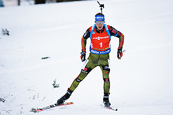 Simon Schempp (GER) competes during Men 12,5 km Pursuit at day 3 of IBU Biathlon World Cup 2015/16 Pokljuka, on December 19, 2015 in Rudno polje, Pokljuka, Slovenia. Photo by Ziga Zupan / Sportida