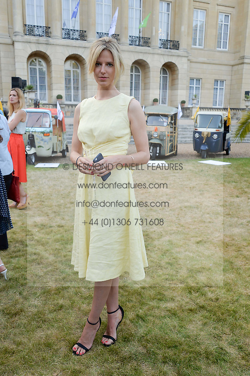 OLIVIA HUNT at the Quintessentially Foundation and Elephant Family 's 'Travels to My Elephant' Royal Rickshaw Auction presented by Selfridges and hosted by HRH The Prince of Wales and The Duchess of Cornwall held at Lancaster House, Cleveland Row, St.James's, London on 30th June 2015.