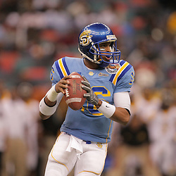 2008 November, 29: Southern University quarterback Bryant Lee (16) drops back to pass during a 29-14 win by Grambling State over Southern University during the 35th annual State Farm Bayou Classic at the Louisiana Superdome in New Orleans, LA.  .