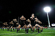 NEW PLYMOUTH, NEW ZEALAND - SEPTEMBER 09:  Kieran Read of the All Blacks leads the haka during The Rugby Championship match between the New Zealand All Blacks and Argentina at Yarrow Stadium on September 9, 2017 in New Plymouth, New Zealand.  Photo by Phil Walter/POOL