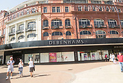 Debenhams department store shop in town centre, Bournemouth, Dorset, England, UK