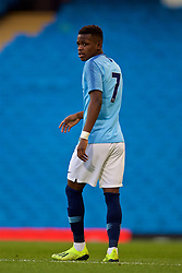 MANCHESTER, ENGLAND - Friday, August 24, 2018: Manchester City's Rabbi Matondo during the Under-23 FA Premier League 2 Division 1 match between Manchester City FC and Liverpool FC at the City of Manchester Stadium. (Pic by David Rawcliffe/Propaganda)