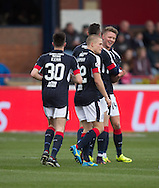 Dundee&rsquo;s Mark O&rsquo;Hara is congratulated after scoring - Dundee v Rangers in the Ladbrokes Scottish Premiership at Dens Park, Dundee.Photo: David Young<br /> <br />  - &copy; David Young - www.davidyoungphoto.co.uk - email: davidyoungphoto@gmail.com