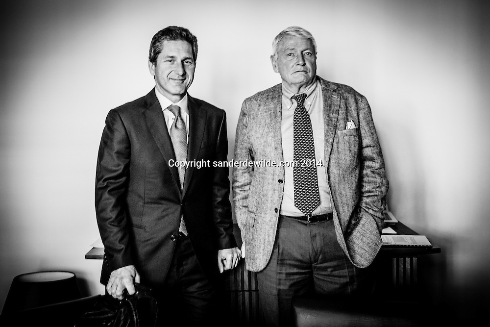 CEO Mike Fries of Liberty Global and John Malone (right) in Brussels on 23 July 2014 CREDIT: Sander de Wilde for The Wall Street Journal. LIBERTYBT