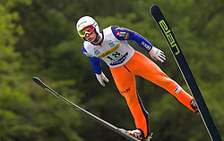 Rok Justin (SLO) of SSD Stol Zirovnica during Ski Jumping Summer Continental Cup in Kranj, on July 2, 2011, in Kranj, Slovenia. (Photo by Vid Ponikvar / Sportida)