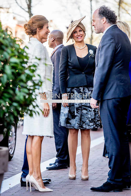 27-3-2017 AMSTERDAM- Visit to Anne Frank House by Queen Maxima, President Macri and Ms Awada. <br /> State visit 2 days to the Netherlands by President Mauricio Macri of the Argentine Republic and his wife Juliana Awada. COPYRIGHT ROBIN UTRECHT Staatsbezoek aan Nederland Anne frankhuis 