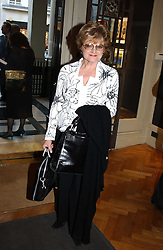 ctress JULIA MCKENZIE at a party to celebrate the publication of an autobiography by the late Jack Rosenthal at The Fine Art Society, 148 New Bond Street, London W1 on 21st April 2005.<br />