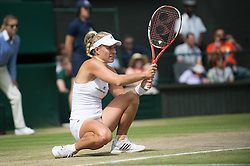 LONDON, ENGLAND - Thursday, July 7, 2016:  Angelique Kerber (GER) during the Ladies' Singles - Semi-finals match on day eleven of the Wimbledon Lawn Tennis Championships at the All England Lawn Tennis and Croquet Club. (Pic by Kirsten Holst/Propaganda)