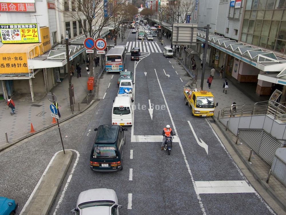 street in the center of Yokosuka City