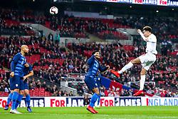 Dele Alli of England heads the ball at goal - Mandatory by-line: Robbie Stephenson/JMP - 15/11/2018 - FOOTBALL - Wembley Stadium - London, England - England v United States of America - International Friendly