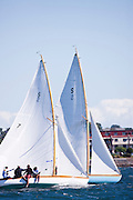 Firefly and Pirate, Herreshoff S Class, sailing in the Museum of Yachting Classic Yacht Regatta.