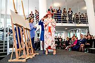 31-1-2019 HEERLEN - Queen Maxima at the opening of the exhibition Basquiat, The Artist and His New York Scene at SCHUNCK museum. ROBIN UTRECHT