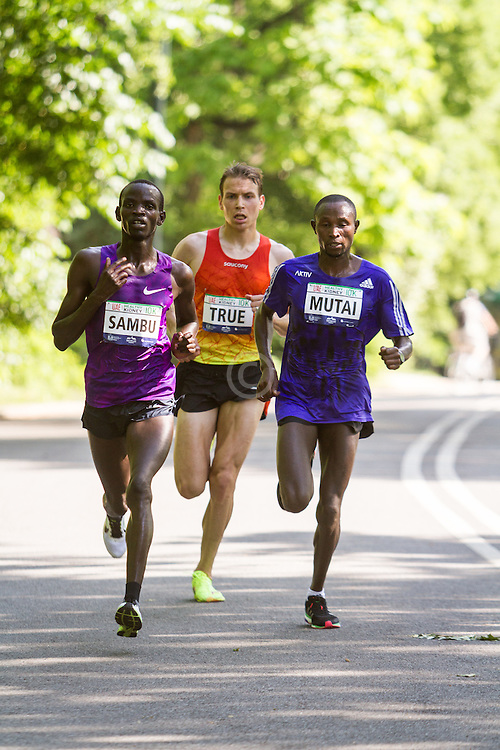 UAE Healthy Kidney 10K, Stephen Sambu, Ben True, Geoffrey Mutai lead with 2 miles to go