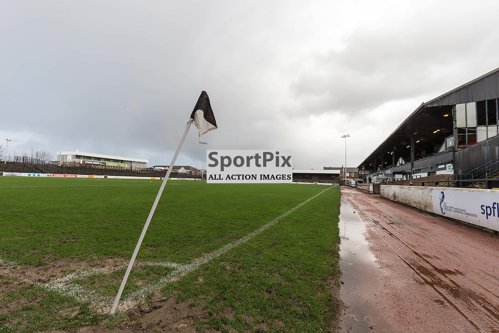 The game between Ayr Utd and Stenhousemuir is called off due to high winds (c) ROSS EAGLESHAM | Sportpix.co.uk