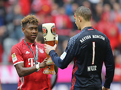 14.05.2016, Allianz Arena, Muenchen, GER, 1. FBL, FC Bayern Muenchen vs Hannover 96, 34. Runde, im Bild David Alaba und Manuel Neuer // during the German Bundesliga 34th round match between FC Bayern Munich and Hannover 96 at the Allianz Arena in Muenchen, Germany on 2016/05/14. EXPA Pictures © 2016, PhotoCredit: EXPA/ SM<br /> <br /> *****ATTENTION - OUT of GER*****