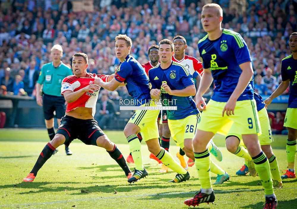 ROTTERDAM - Feyenoord ajax in de Kuip , Feyenoord verloor de wedstrijd met 0-1  in actie  COPYRIGHT ROBIN UTRECHT