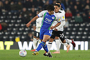 Wigan Athletic midfielder Reece James during the EFL Sky Bet Championship match between Derby County and Wigan Athletic at the Pride Park, Derby, England on 5 March 2019.