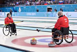 Gregor Ewan, Aileen Neilson, Wheelchair Curling Semi Finals at the 2014 Sochi Winter Paralympic Games, Russia