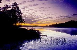 Sunrise on English Lake in northern Wisconsin.