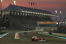 13.11.2011, Yas-Marina-Circuit, Abu Dhabi, UAE, Grosser Preis von Abu Dhabi, im Bild DHL Branding - Fernando Alonso (ESP), Scuderia Ferrari  // during the Formula One Championships 2011 Large price of Abu Dhabi held at the Yas-Marina-Circuit, 2011/11/13. EXPA Pictures © 2011, PhotoCredit: EXPA/ nph/ Dieter Mathis..***** ATTENTION - OUT OF GER, CRO *****