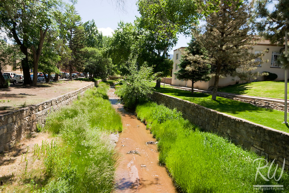 Santa Fe River, Downtown Santa Fe, New Mexico