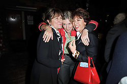 Left to right, BARONESS HELENA KENNEDY, ROSIE BOYCOTT and KATHY LETTE at the gala night party of Losing It staring Ruby Wax held at he Menier Chocolate Factory, 51-53 Southwark Street, London SE1 on 23rd February 2011.
