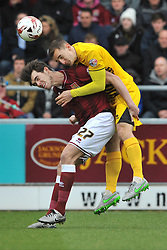 BRISTOL ROVERS TOM LOCKYER HOLDS OF NORTHAMPTONS JOHN MARQUIS, BRISTOL ROVERS TOM LOCKYER HOLDS OF NORTHAMPTONS JOHN MARQUIS,