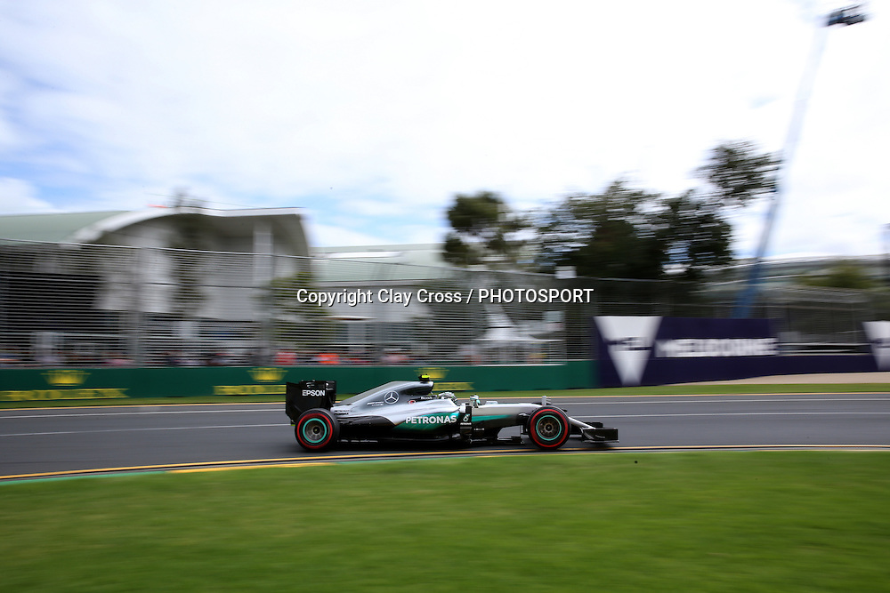 Nico Rosberg (Mercedes). 2016 Formula 1 Rolex Australian Grand Prix. Albert Park, Melbourne 17-20 March 2016. Photo: Clay Cross / photosport.nz