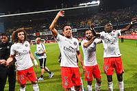 Joie PSG Champion - MARQUINHOS - 16.05.2015 - Montpellier / Paris Saint Germain - 37eme journee de Ligue 1<br />Photo : Alexandre Dimou / Icon Sport