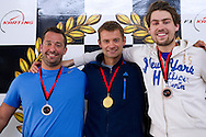 (L) Trainer assistant Aleksander Charpantidis & (C) Mariusz Fyrstenberg and (R) Piotr Gadomski while GoKarts Racing on F1 Karting Track four days before the BNP Paribas Davis Cup 2014 between Poland and Croatia in Warsaw on March 31, 2014.<br /> <br /> Poland, Warsaw, March 31, 2014<br /> <br /> Picture also available in RAW (NEF) or TIFF format on special request.<br /> <br /> For editorial use only. Any commercial or promotional use requires permission.<br /> <br /> Mandatory credit:<br /> Photo by © Adam Nurkiewicz / Mediasport