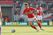 Middlesbrough midfielder Marcus Tavernier (28)  during the EFL Sky Bet Championship match between Middlesbrough and Stoke City at the Riverside Stadium, Middlesbrough, England on 19 April 2019.