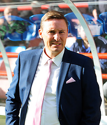 Aldershot Town Manager, Andy Scott - Photo mandatory by-line: Neil Brookman - Mobile: 07966 386802 - 11/10/2014 - SPORT - Football - Aldershot - Recreation Ground - Aldershot Town v Bristol Rovers - Vanarama Football Conference