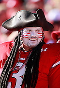 A Utes fan is dressed up like a pirate during Utah's NCAA college football game against UNLV at Rice-Eccles Stadium, Saturday, Sept. 11, 2010, in Salt Lake City, Utah.  (AP Photo/Colin E. Braley)