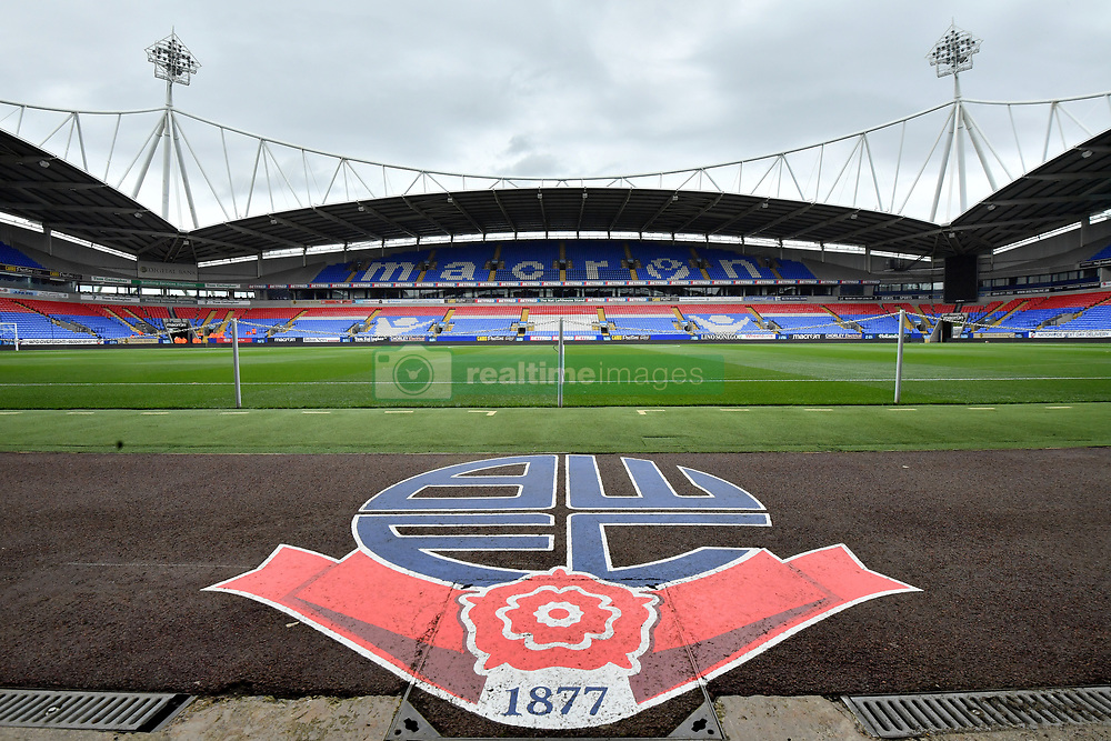 "General view inside the Macron Stadium before the pre-season match at the Macron Stadium, Bolton. PRESS ASSOCIATION Photo. Picture date: Saturday July 29, 2017. See PA story SOCCER Bolton. Photo credit should read: Anthony Devlin/PA Wire. RESTRICTIONS: EDITORIAL USE ONLY No use with unauthorised audio, video, data, fixture lists, club/league logos or ""live"" services. Online in-match use limited to 75 images, no video emulation. No use in betting, games or single club/league/player publications."