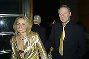 TESSA CAMPBELL-FRASER AND RORY BREMNER, Lucy Yeomans Editor of Harper's Bazaar and Moet and Chandon host the Gold Party. 17 Berkeley St. London W1. 1 November 2007. -DO NOT ARCHIVE-© Copyright Photograph by Dafydd Jones. 248 Clapham Rd. London SW9 0PZ. Tel 0207 820 0771. www.dafjones.com.