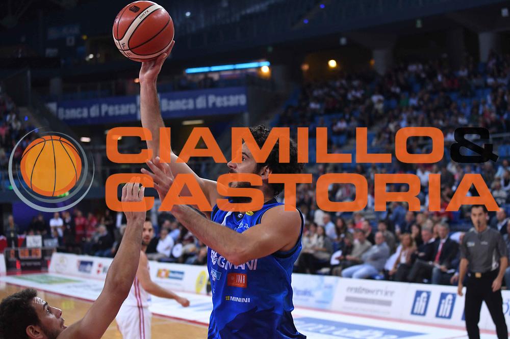 Luca Vitali<br /> VL Pesaro - Germani Leonessa Basket Brescia<br /> Lega Basket Serie A 2017/2018<br /> Pesaro, 01/10/2017<br /> Foto M.Ceretti / Ciamillo - Castoria