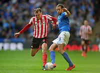 Football - 2019 EFL Checkatrade Trophy Final - Sunderland vs. Portsmouth<br /> <br /> Charlie Wyke of Sunderland and Christian Burgess of Portsmouth, at Wembley.<br /> <br /> COLORSPORT/ANDREW COWIE