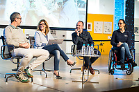"Javier Gutierrez, paralympic Swimmer Teresa Perales and Javier Fesser during the presentation of the new Javier Fesser short film ""Servicio Tecnico"",in Madrid, March 15, 2016<br /> (ALTERPHOTOS/BorjaB.Hojas)"