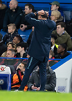 Football - 2018 / 2019 Emirates FA Cup - Fifth Round: Chelsea vs. Manchester United <br /> <br /> Maurizio Sarri, Manager of Chelsea FC, turns away in frustration at Stamford Bridge<br /> <br /> COLORSPORT/DANIEL BEARHAM