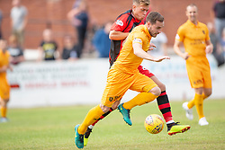 Livingston Scott Pittman. half time : Livingston 1 v 0 Annan Athletic, Scottish League Cup Group F, played 21/7/2018 at Prestonfield, Linlithgow.