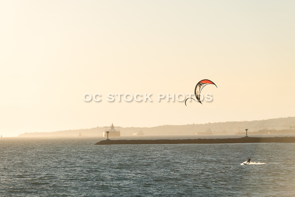 Wind Surfing in Seal Beach California