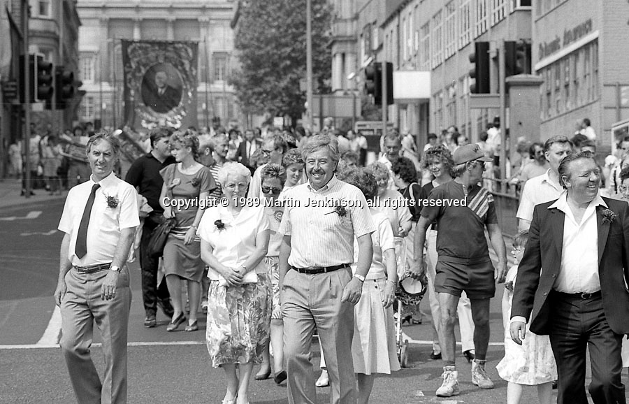 Yorkshire Area Officials. NUM Centenary Demonstration and Gala, Barnsley.