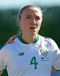 MARBELLA, SPAIN - Thursday, February 28, 2019: Republic of Ireland's Louise Quinn lines-up before an international friendly match between Wales and Republic of Ireland at the Marbella Football Centre. (Pic by David Rawcliffe/Propaganda)