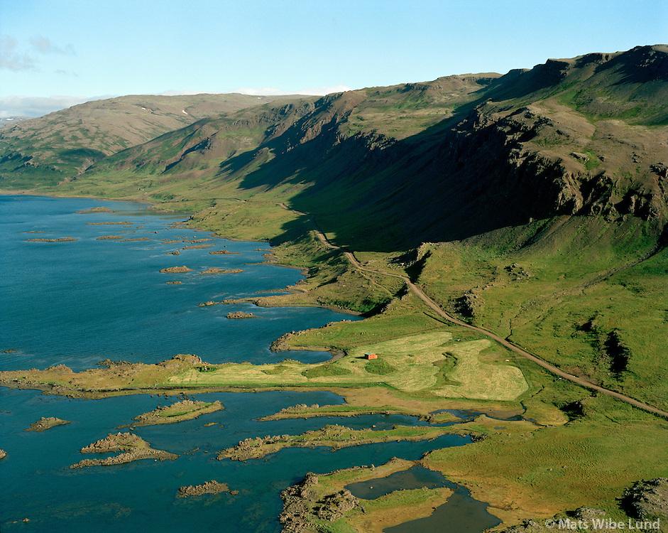 Kleifastaðir, Kollafjörður séð til norðurs,  Reykhólahreppur áður Gufudalshreppur / Kleifastadir , Kollafjordur viewing north, Reykholahreppur former Gufudalshreppur.