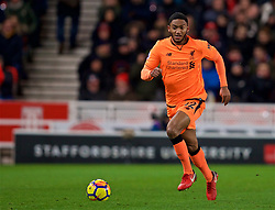 STOKE-ON-TRENT, ENGLAND - Wednesday, November 29, 2017: Liverpool's Joe Gomez during the FA Premier League match between Stoke City and Liverpool at the Bet365 Stadium. (Pic by David Rawcliffe/Propaganda)