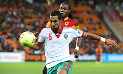 Morocco's Mehdi Benatia and Angola's Manucho during the 2013 Africa Cup of Nations soccer match, Angola Vs Morocco at National stadium in Johannesburg on January 19, 2013. Photo by Christian Liewig/NCI/ABACAPRESS.COM  | 349001_015