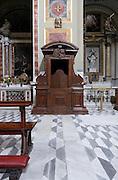 confessional in an Italien baroque church