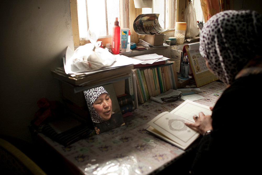 Yao Baoxia's main role is as a teacher, she says.<br /> <br /> &quot;When people come to pray, they don't know how to chant the Quran, so my job is teaching people about Islam, helping them to study one line at a time and leading the prayers,&quot; she says.